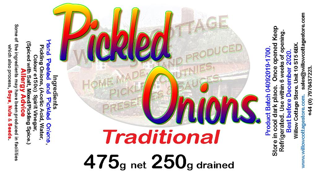 Traditional Pickled Onions