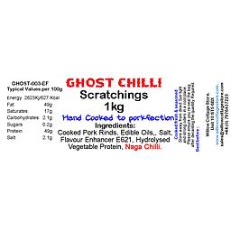 [GCPS1] Ghost Chilli Pork Scratchings  | 1Kg Bag